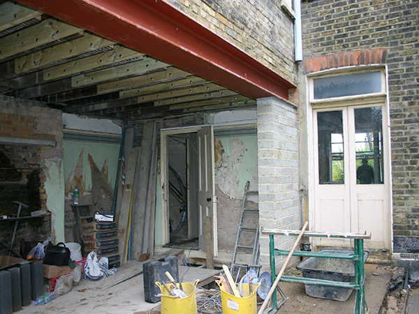 Case study - steel work in renovation, East Dulwich