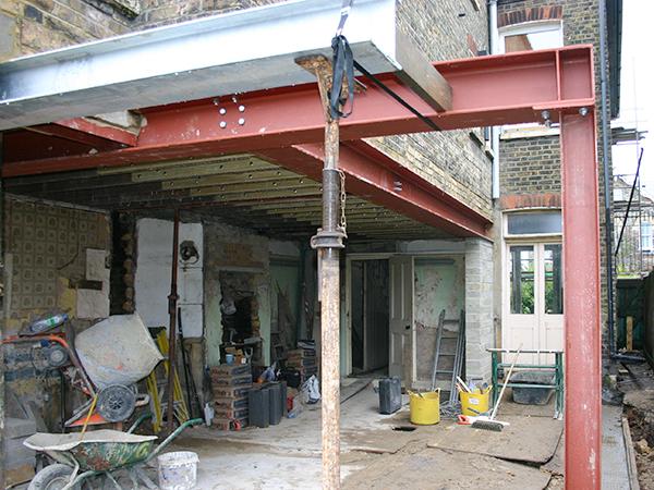 Case study - steel work in renovation, East Dulwich