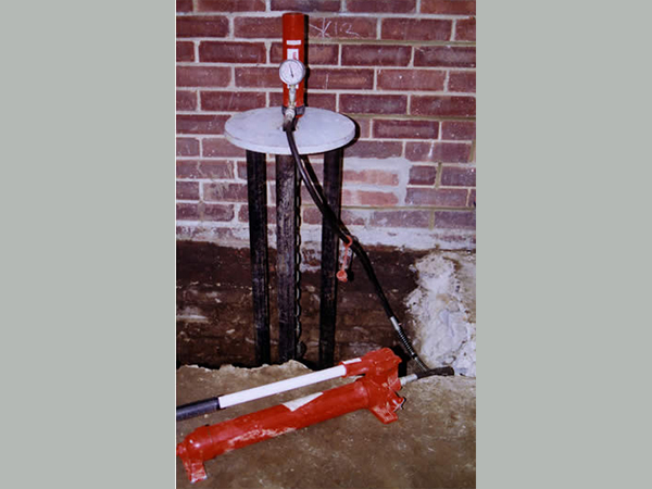 Services - helical piles to repair foundations